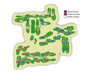 Oaks North Golf Course Layout