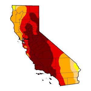 CA drought monitor map
