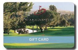 Oaks North Golf Course gift card